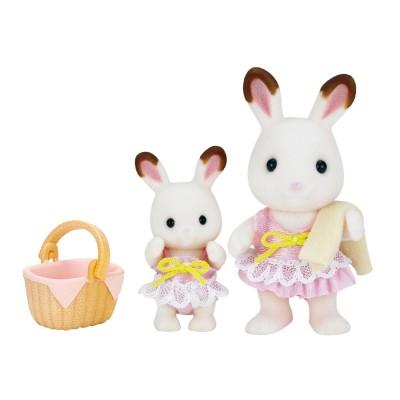 sylvanian family 5233 figurines les soeurs lapin chocolat au bord de mer jeux et jouets. Black Bedroom Furniture Sets. Home Design Ideas
