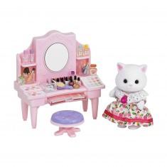 Sylvanian Family 5235 : Table de maquillage et figurine chat persan