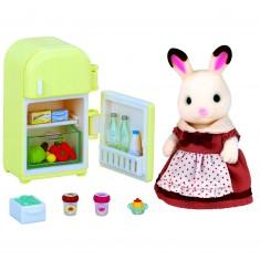 Sylvanian Family 2202 : Maman lapin chocolat et son réfrigérateur