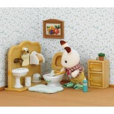 Sylvanian Family 2203 : Frère lapin chocolat aux toilettes