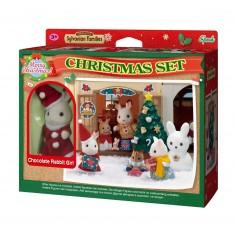 Sylvanian Family 2225 : Coffret Noël : Soeur Lapin Choco