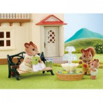 Sylvanian Family 2243 : Set banc de jardin et fontaine