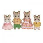 Sylvanian Family 5180 : Famille chat tigré