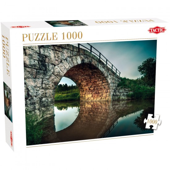 Puzzle 1000 pièces : Derrière le pont - Tactic-40903