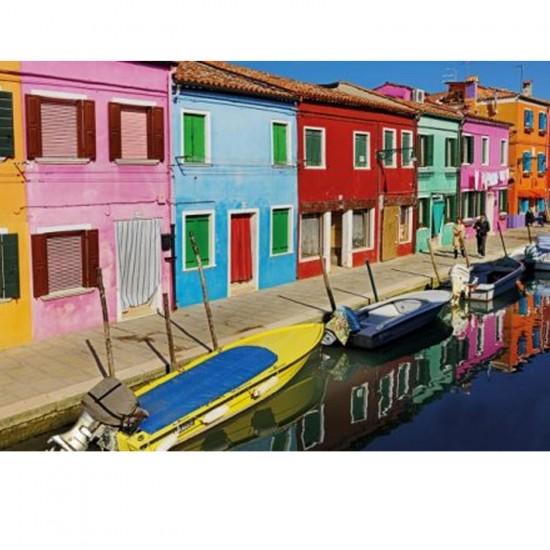 Puzzle 1000 pièces : Ile de Burano, Venise - Tactic-40907