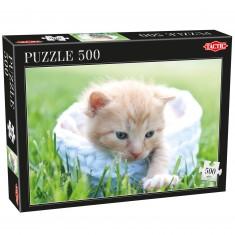 Puzzle 500 pièces : Chaton beige