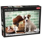 Puzzle 500 pièces : Le chien cireur de chaussures