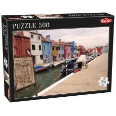 Puzzle 500 pièces : Quartier de Burano