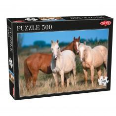 Puzzle 500 pièces : Trois Chevaux