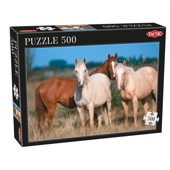 Puzzle 500 pièces : Trois Chevaux - Tactic-53560