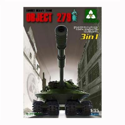 Maquette char OBJECT 279 Char super lourd soviétique 1955 (3 en 1) - Takom-2001