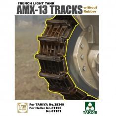Accessoires militaires : Set de chenille sans patin en caoutchouc AMX-13