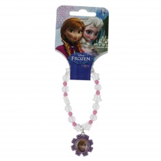 Bracelet La Reine des Neiges (Frozen) : Anna (rose)