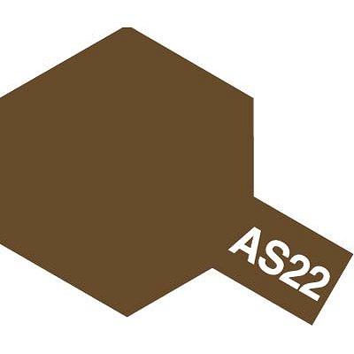 AS22 - Bombe aérosol - 90 ml : Terre Foncé - Tamiya-86522