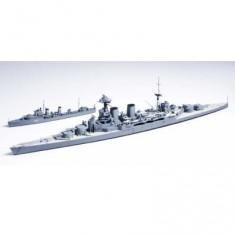 Maquette bateau: British Battle Cruiser Hood & E Class Destroyer