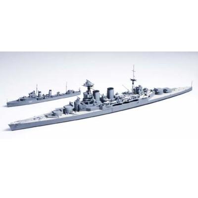 Maquette bateau: British Battle Cruiser Hood & E Class Destroyer - Tamiya-31806