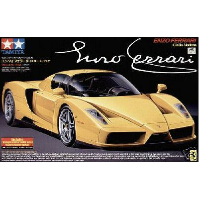 maquette voiture enzo ferrari jaune jeux et jouets tamiya avenue des jeux. Black Bedroom Furniture Sets. Home Design Ideas