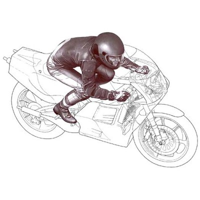 Figurine pilote moto ligne droite 1/12 - Tamiya-14123