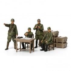 Figurines Militaires : Officiers Armée Japonaise