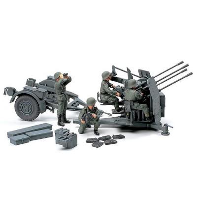 Maquette Canonallemand 20mm Flakvierling 38 avec figurines - Tamiya-32554
