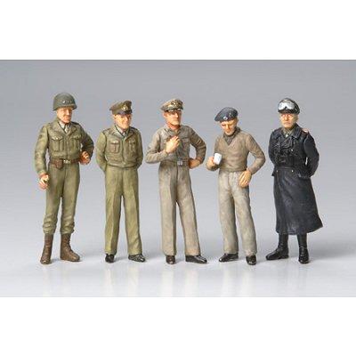 Figurines 2ème Guerre Mondiale : Généraux célèbres - Tamiya-32557