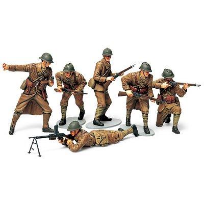 Figurines 2ème Guerre Mondiale : Infanterie Française 1940 - Tamiya-35288