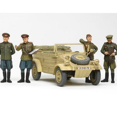Maquette Kübelwagen et officiers soviétiques - Tamiya-25153