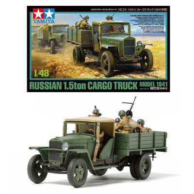 Maquette camion 1/48 : Camion soviétique 1.5 T - Tamiya-32577