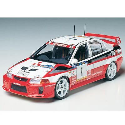Maquette voiture : Mitsubishi Lancer Evolution V WRC - Tamiya-24203