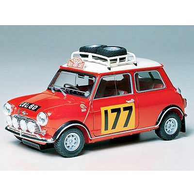 Maquette voiture : Morris Mini Cooper 1275S Rally - Tamiya-24048