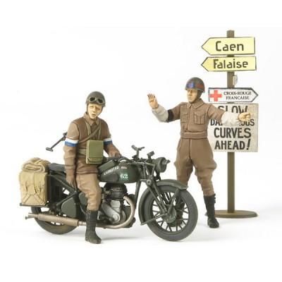 Maquette Moto militaire britannique BSA M20 avec figurines - Tamiya-35316
