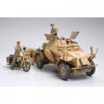 Maquette Sd.Kfz.222 Afrique du Nord avec figurines