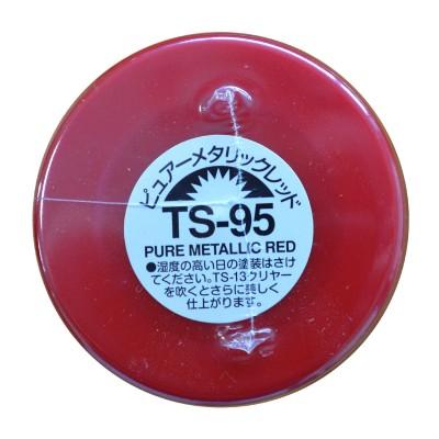 TS-95 - Bombe de peinture aérosol - 90 ml : Rouge Pur Métallisé - Tamiya-85095