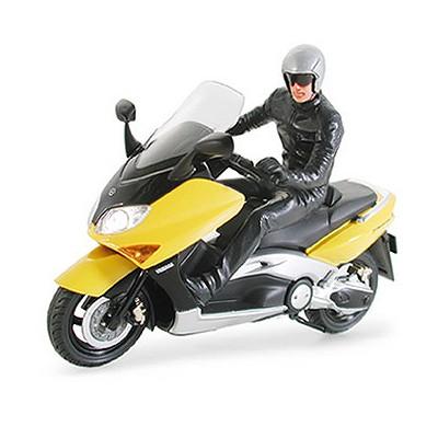 Maquette Moto: Yamaha TMax with Rider Figure - Tamiya-24256