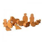 Accessoires pour maquette en briques : Set de figurines