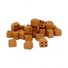 Moitiés de briques perforées x28