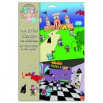Stickers château avec fonds : Ma p'tite histoire au château