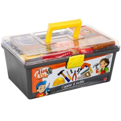 caisse outils grise jeux et jouets tim lou avenue. Black Bedroom Furniture Sets. Home Design Ideas