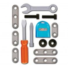 Set d'outils de bricolage : Tournevis, clef plate et accessoires