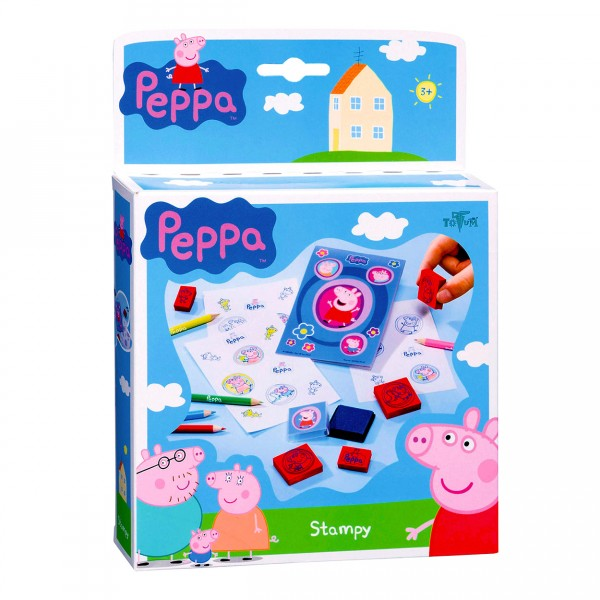 kit cr atif peppa pig jeu de tampons jeux et jouets totum avenue des jeux. Black Bedroom Furniture Sets. Home Design Ideas