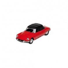 Voiture en métal Citroën DS 19 Cabriolet Rouge : Toit fermé