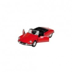 Voiture en métal Citroën DS 19 Cabriolet Rouge : Toit ouvert