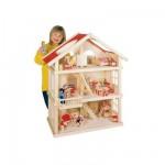 Maison de poupée 3 niveaux