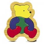 Puzzle 6 pièces en bois : L'ours