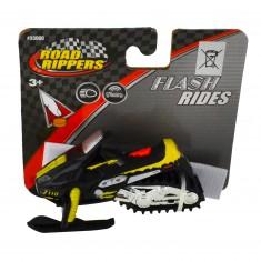 Moto des neiges Road Rippers : Flash Rides : noire et jaune