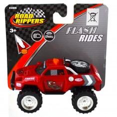Pick up Road Rippers : Flash Rides : rouge avec roue dans la remorque