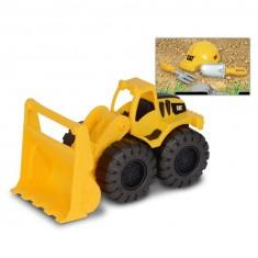 Véhicule de construction avec casque de chantier et accessoires Caterpillar : Chargeur sur pneus