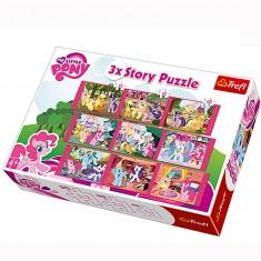 Puzzle 30 à 60 pièces : 3 puzzles Story : Mon petit poney