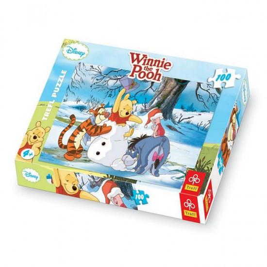 Puzzle 100 pièces - Winnie l'ourson : C'est chouette l'hiver - Trefl-16163