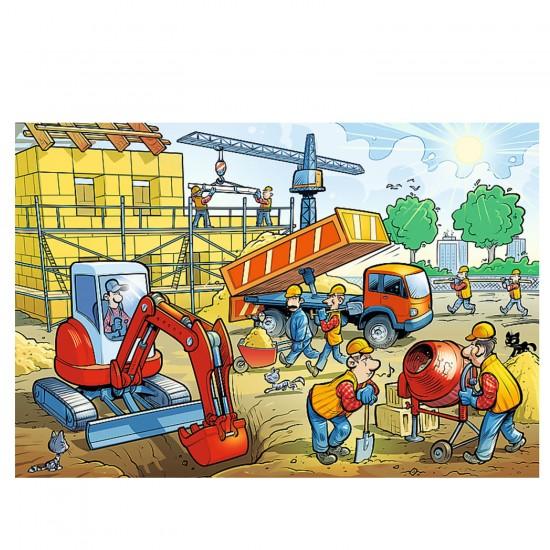 Puzzle 100 pièces : Immeuble en construction - Trefl-16263